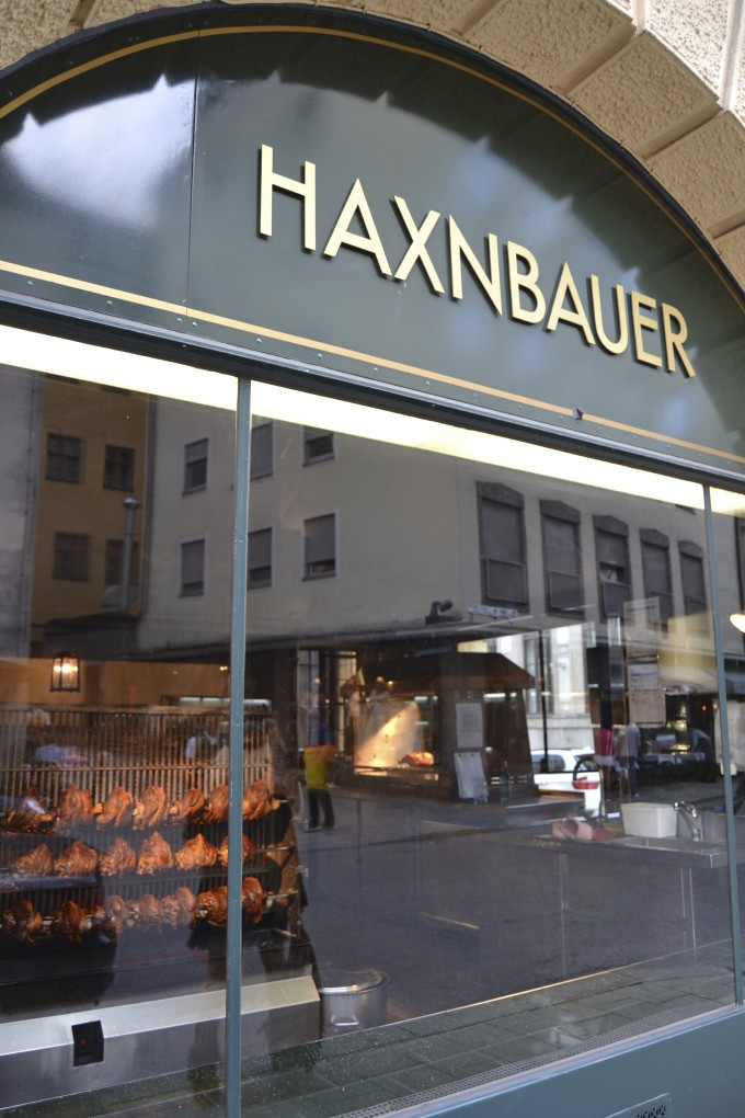Eating at the Haxnbaue...